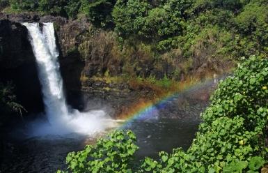 Hawaii-Hilo-Rainbow Falls- Rainbow-2