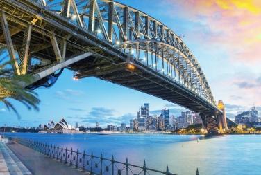 australia-sydney-harbor-skyline-dusk-harbor-bridge-opera-house
