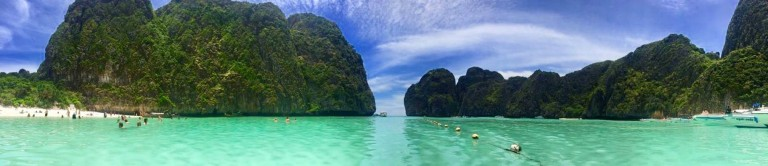 "Maya Bay (where the movie ""The Beach"" was filmed), Ko Phi Phi Leh, Thailand"